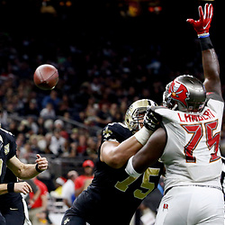 Dec 24, 2016; New Orleans, LA, USA; New Orleans Saints quarterback Drew Brees (9) throws against the Tampa Bay Buccaneers during the second half of a game at the Mercedes-Benz Superdome. Mandatory Credit: Derick E. Hingle-USA TODAY Sports