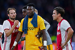 13-08-2019 NED: UEFA Champions League AFC Ajax - Paok Saloniki, Amsterdam<br />  Ajax won 3-2 and they will meet APOEL in the battle for a group stage spot / Daley Blind #17 of Ajax, André Onana #24 of Ajax, Nicolás Tagliafico #31 of Ajax