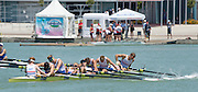 Plovdiv, BULGARIA. GBR BM8+. Bow, Rory GIBBS, William HALL, Rufus SCHOLEFIELD, Henry MILLER, Olicer KNIGHT,  Herny SWARBRICK, Morgab BOLDING and cox, Harry BRIGHTMORE. 2015 FISA U23 Championships. Sunday. 26.07.2015. [Mandatory Credit: Peter SPURRIER/Intersport Images]