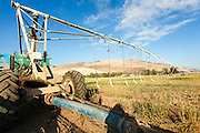 Mobile Irrigation Robot in a field. Photographed in the Jezreel Valley, Israel