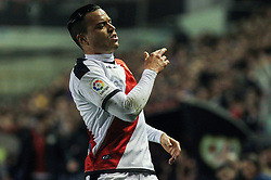 March 1, 2019 - Madrid, Madrid, Spain - Raul de Tomas of Rayo Vallecano lamenting during La Liga Spanish championship, , football match between Rayo Vallecano and Girona , March 01th, in Estadio de Vallecas in Madrid, Spain. (Credit Image: © AFP7 via ZUMA Wire)
