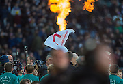 "Twickenham, United Kingdom. ""RAZA MA TAZZ "" at the entrance to the Tunnel as the player's emerge the Old Mutual Wealth Series Rest Match: England vs Australia, at the RFU Stadium, Twickenham, England, <br /> <br /> Saturday  03/12/2016<br /> <br /> [Mandatory Credit; Peter Spurrier/Intersport-images]"