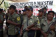 Community Police members armed with shotguns make a parade in the streets of San Luis Acatl·n, on February 17th, 2013.  / PolicÌas Comunitarios armados con escopetas desfilan en las calles de San Luis Acatl·n el 17 de febrero de 2013. (Photo: Prometeo Lucero)