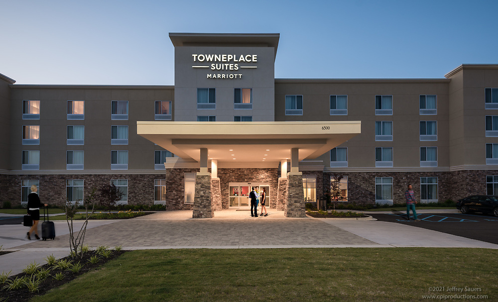 Architecture image of Townplace Suites by Marriott  at Redstone Gateway in Huntsville Alabama by Jeffrey Sauers of Commercial Photographics, Architectural Photo Artistry in Washington DC, Virginia to Florida and PA to New England