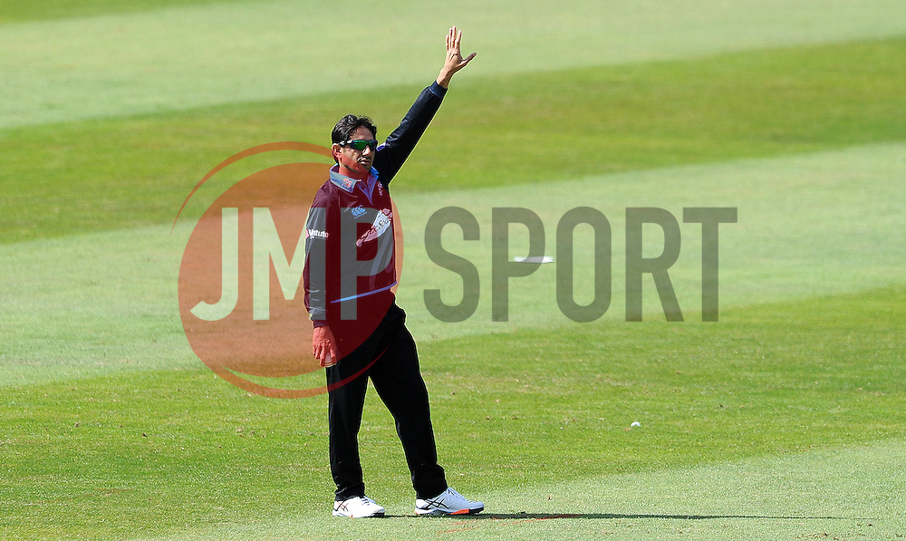 Worcestershire's Saeed Ajmal- Photo mandatory by-line: Harry Trump/JMP - Mobile: 07966 386802 - 31/07/15 - SPORT - CRICKET - Somerset v Worcestershire- Royal London One Day Cup - The County Ground, Taunton, England.
