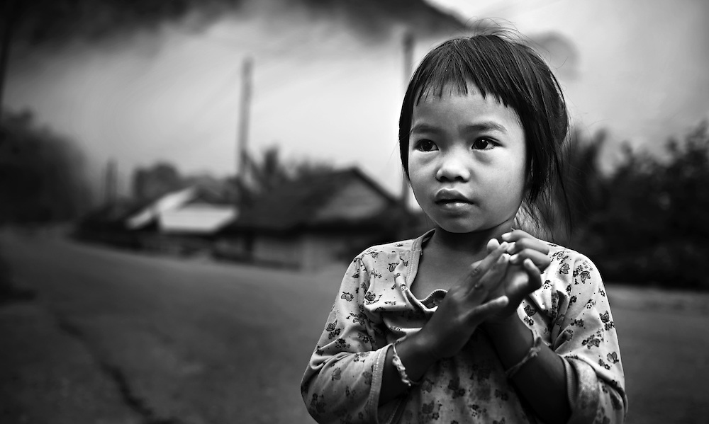 A girl near Luang Prabang, Laos.