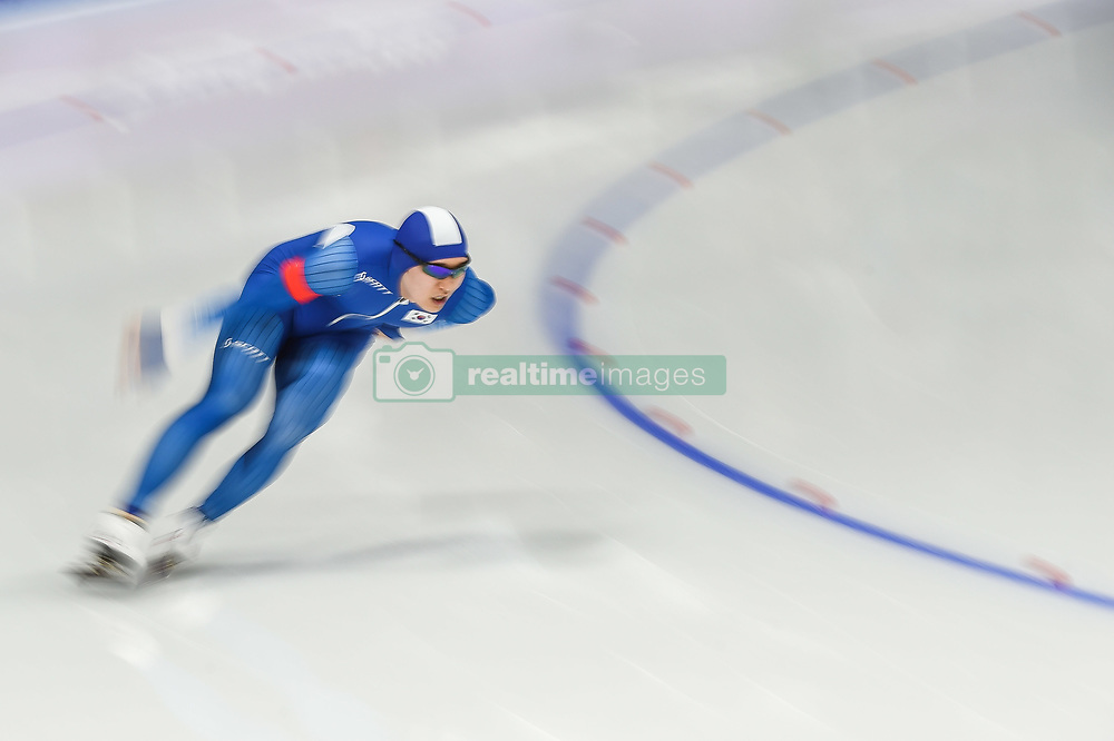 February 23, 2018 - Pyeongchang, Gangwon, South Korea - Kim Tae-Yun of  South Korea.at 1000 meter speedskating at winter olympics, Gangneung South Korea on February 23, 2018. (Credit Image: © Ulrik Pedersen/NurPhoto via ZUMA Press)