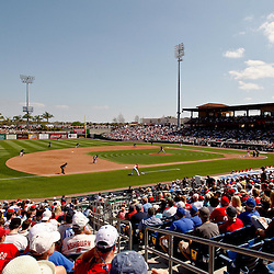 February 27, 2011; Clearwater, FL, USA; A general view during a spring training exhibition game between the New York Yankees and the Philadelphia Phillies at  Bright House Networks Field. Mandatory Credit: Derick E. Hingle