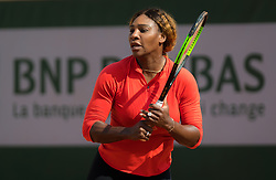 May 21, 2019 - Paris, FRANCE - Serena Williams of the United States practices ahead of the 2019 Roland Garros Grand Slam tennis tournament (Credit Image: © AFP7 via ZUMA Wire)