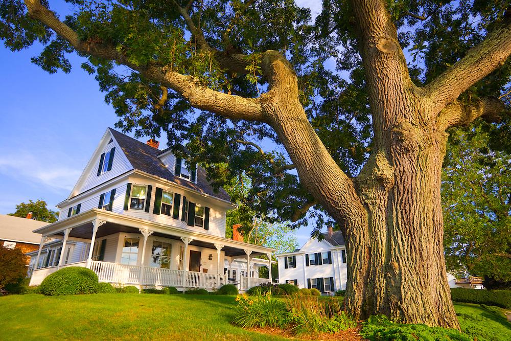 351021-1013G.Huey ~ Copyright: George H.H. Huey ~ 1902 Historic house along Bay Street.  Mystic, Connecticut.