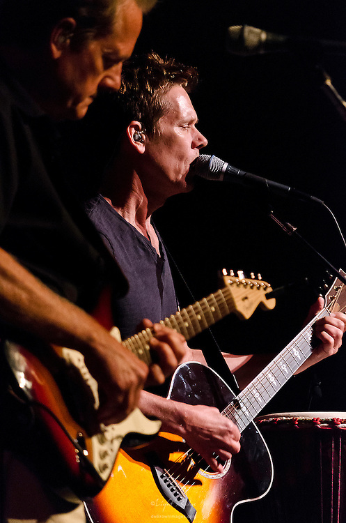 Kevin and Michael Bacon performing with their band on The Music Pier in Ocean City, NJ.