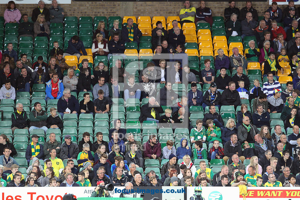 Quite a lot of empty seats during the Capital One Cup match at Carrow Road, Norwich<br /> Picture by Paul Chesterton/Focus Images Ltd +44 7904 640267<br /> 23/09/2015