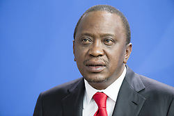 April 6, 2016 - Berlin, Germany - Kenyan President Uhuru Kenyatta is pictured during a news conference held with German Chancellor Angela Merkel at the Chancellery on April 6, 2016 in Berlin, Germany. (Credit Image: © Emmanuele Contini/NurPhoto via ZUMA Press)