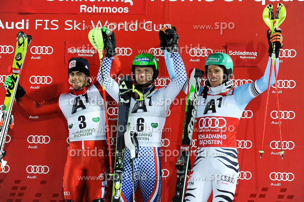 27.01.2015, Planai, Schladming, AUT, FIS Weltcup Ski Alpin, Schladming, Herren, Slalom, 2. Lauf, im Bild // during the 2nd run of the men' s slalom of Schladming FIS Ski Alpine World Cup at the Planai in Schladming, Austria on 2015/01/27. EXPA Pictures © 2015, PhotoCredit: EXPA/ Erich Spiess