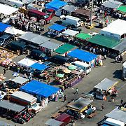 Aerial view of Queens, New York Flea Market