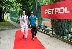 Miha Mlakar and Andraz Bedene at Petrol VIP tournament 2018, on May 24, 2018 in Sports park Tivoli, Ljubljana, Slovenia. Photo by Vid Ponikvar / Sportida