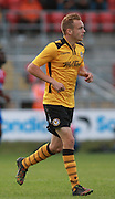 Newport County player Lewis Bamford during the Sky Bet League 2 match between Dagenham and Redbridge and Newport County at the London Borough of Barking and Dagenham Stadium, London, England on 19 September 2015. Photo by Bennett Dean.