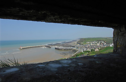 NORMANDY, FRANCE - MAY-01-2007 - Omaha Beach Golf Club - Course: La Mer (The Sea) - Hole 6 - 469 yards - Par 4. The view from inside a German bunker at hole six on La Mer course. (Photo © Jock Fistick)