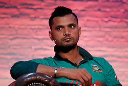 Bangladesh's Mashrafe Mortaza during the Cricket World Cup captain's launch event at The Film Shed, London.