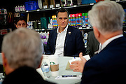 GOP presidential candidate Mitt Romney listens to business leaders describe their economic woes at Western Nevada Supply in Sparks, Nev., February 3, 20112.