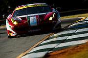 Piergiuseppe Perazzini, Marco Cioci and Matt Griffin, AF Corse (GTE-AM) Ferrari F458 Italia , Petit Le Mans. Oct 18-20, 2012. © Jamey Price