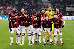 January 26, 2019 - Milan, Milan, Italy - AC Milan pose for a team photo before the serie A match between AC Milan and SSC Napoli at Stadio Giuseppe Meazza on January 26, 2018 in Milan, Italy. (Credit Image: © Giuseppe Cottini/NurPhoto via ZUMA Press)