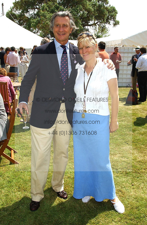 MON.ARNAUD BAMBERGER and the COUNTESS OF MARCH at a luncheon hosted by Cartier at the 2005 Goodwood Festival of Speed on 26th June 2005.  Cartier sponsored the &quot;Style Et Luxe' for vintage cars on the final day of this annual event at Goodwood House, West Sussex. <br />