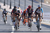 Arrival, BARDET Romain (FRA) AG2R La Mondiale, BOASSON HAGEN Edvald (NOR) Dimension Data, DUMOULIN Tom (NED) Giant, during the 7th Tour of Oman 2016, Stage 1, Oman Exhibition Center - Al Bustan (145,5Km), on February 16, 2016 - Photo Tim de Waele / DPPI