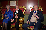 Lord and Lady Michael Fitzalen Howard and Sir David Fraser, Book launch for ' Miles: a Portrait of the 17th Duke of Norfolk'. By Gerard Noel. the Throne Room, Archbishops House. Ambrosden Avenue. London SW1. ONE TIME USE ONLY - DO NOT ARCHIVE  © Copyright Photograph by Dafydd Jones 66 Stockwell Park Rd. London SW9 0DA Tel 020 7733 0108 www.dafjones.com
