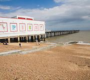 Beach and pier at Felixstowe, Suffolk, England