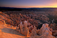 Sunrise light at Bryce Canyon from Inspiration Point Bryce Canyon National Park, UTAH