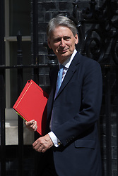 Downing Street, London, July 5th 2016. Foreign Secretary Philip Hammond leaves 10 Downing Street following the weekly cabinet meeting.