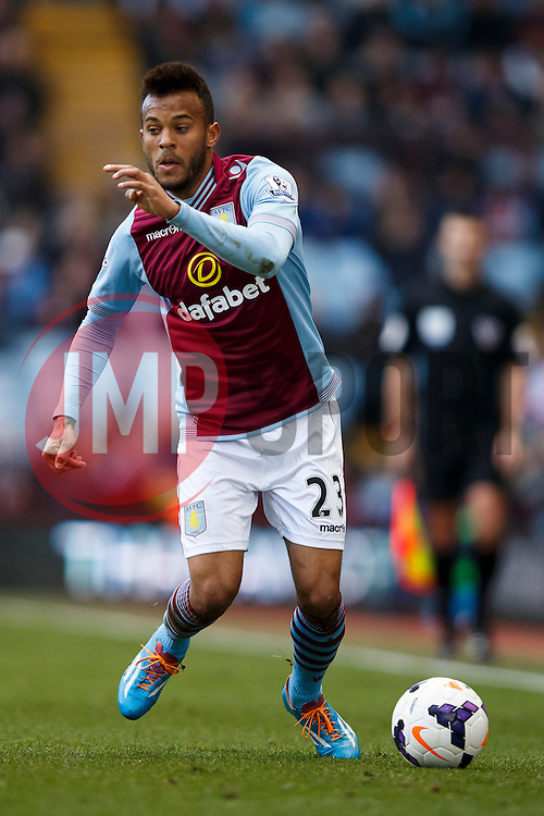 Aston Villa Defender Ryan Bertrand (ENG) in action - Photo mandatory by-line: Rogan Thomson/JMP - 07966 386802 - 23/03/2014 - SPORT - FOOTBALL - Villa Park, Birmingham - Aston Villa v Stoke City - Barclays Premier League.