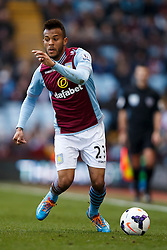 Aston Villa Defender Ryan Bertrand (ENG) in action - Photo mandatory by-line: Rogan Thomson/JMP - 07966 386802 - 23/03/2014 - SPORT - FOOTBALL - Villa Park, Birmingham - Aston Villa v Stoke City - Barclays Premier League.