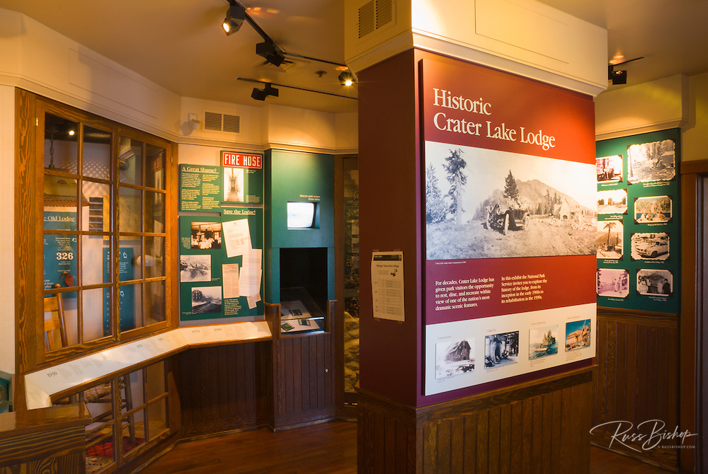 Historical display at Crater Lake Lodge, Crater Lake National Park, Oregon