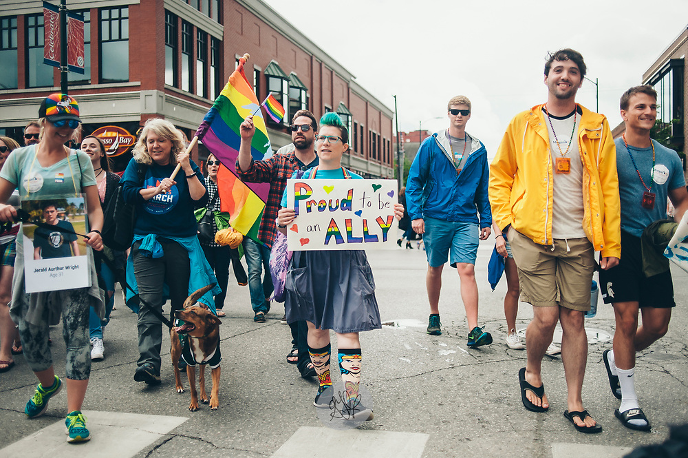 UpNorth Pride Parade in Traverse City, Michigan