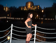 MICHELLE BECK, The opening night party for the second year of The Bridge Project,   Silverfleet on the River Thames. Savoy Pier. London. 23 June 2010. -DO NOT ARCHIVE-© Copyright Photograph by Dafydd Jones. 248 Clapham Rd. London SW9 0PZ. Tel 0207 820 0771. www.dafjones.com.