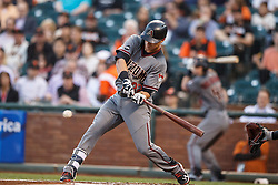 SAN FRANCISCO, CA - APRIL 18:  Jake Lamb #22 of the Arizona Diamondbacks hits a double against the San Francisco Giants during the first inning at AT&T Park on April 18, 2016 in San Francisco, California.  (Photo by Jason O. Watson/Getty Images) *** Local Caption *** Jake Lamb