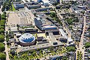 Nederland, Noord-Brabant, Breda, 23-08-2016; <br /> Centrum Breda, Koepelgevangenis. Nassaustraat, Kloosterlaan.<br /> <br /> Overview city centre Breda.<br /> <br /> aerial photo (additional fee required); <br /> luchtfoto (toeslag op standard tarieven); copyright foto/photo Siebe Swart