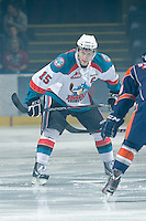 KELOWNA, CANADA, JANUARY 25: Colton Sissons #15 of the Kelowna Rockets faces off as the Kamloops Blazers visit the Kelowna Rockets on January 25, 2012 at Prospera Place in Kelowna, British Columbia, Canada (Photo by Marissa Baecker/Getty Images) *** Local Caption ***