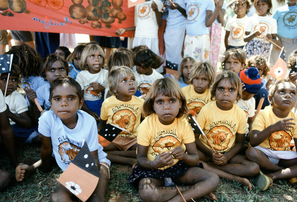 Aboriginal children attend Bicentenary celebrations, Sydney, Australia