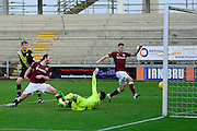 Northampton Town Midfielder John-Joe O'Toole scores the second goal during the Sky Bet League 2 match between Northampton Town and Morecambe at Sixfields Stadium, Northampton, England on 23 January 2016. Photo by Dennis Goodwin.