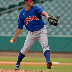 2009 July 07: Pitcher, Greg Reinhard (17) of the Iowa Cubs on the mound during a AAA Minor League Baseball game between the New Orleans Zephyrs AAA affiliate for the Florida Marlins and the Iowa Cubs a AAA affiliate for the Chicago Cubs  at Zephyrs Stadium in Metairie, Louisiana.