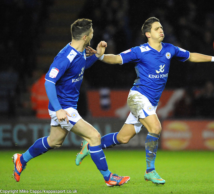 ANTHONY KNOCKAERT, LEICESTER CITY, CELEBRATES AFTER SCORING HIS FIRST GOAL AGAINST HUDDERSFIELD, Leicester City v Huddersfield Town, NPOWER Championship,  King Power Stadium, Leicester, Tuesday 1st January 2013