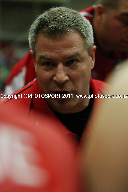 Pistons Coach Dean Vickerman during their NBL Game at Hamilton,,Basketball,Pistons Vs Jets, Wednesday 22 June 2011.<br /> Photo: Dion Mellow / photosport.co.nz