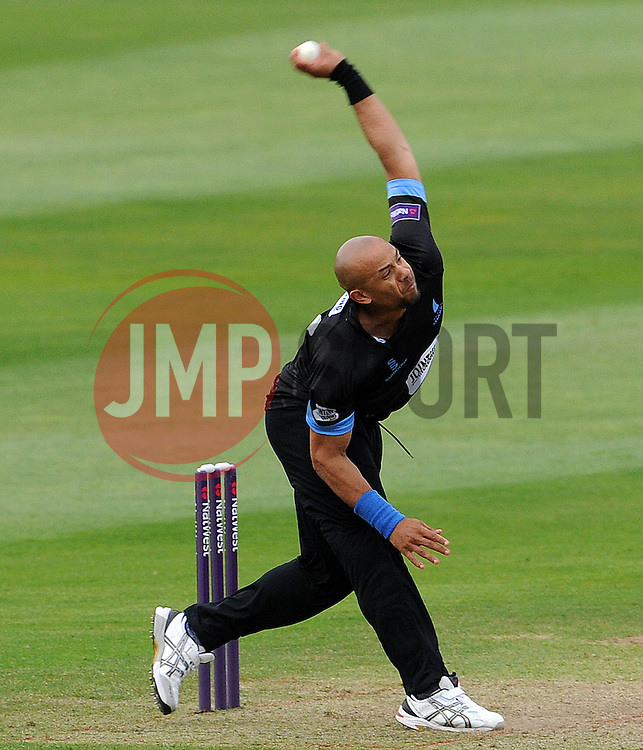 Sussex's Tymal Mills Photo mandatory by-line: Harry Trump/JMP - Mobile: 07966 386802 - 22/05/15 - SPORT - CRICKET - Natwest T20 Blast - Somerset v Sussex Sharks - The County Ground, Taunton, England.