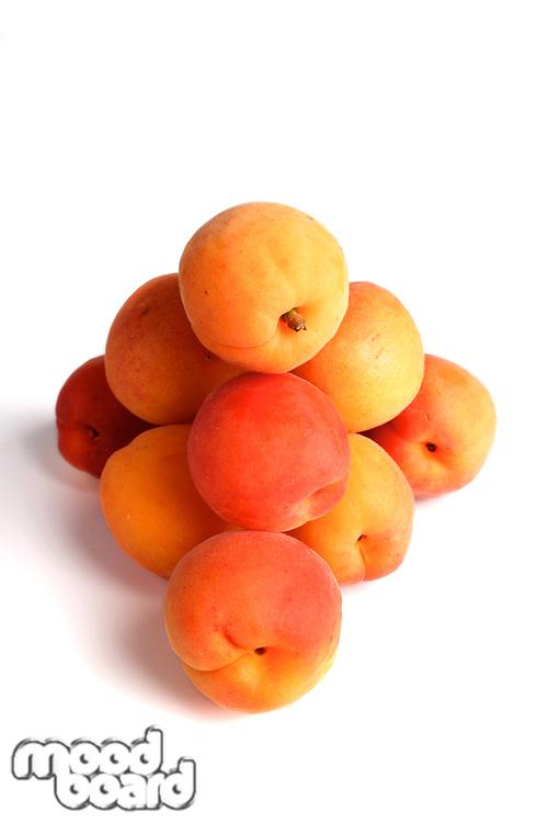Studo shot of apricot fruits