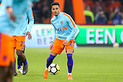 Netherlands forward Justin Kluivert (Ajax) in warm up during the Friendly match between Netherlands and England at the Amsterdam Arena, Amsterdam, Netherlands on 23 March 2018. Picture by Phil Duncan.
