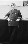 Capt. Rostron of the Carpathia. Date Created/Published: [1912] Medium 1 photographic print.  Summary : Arthur Henry Rostron, captain of the Carpathis, full-length portrait, standing, facing front.