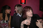Laura Jackson, Cosey's son Nick, Cosey Fanni Tutti,( Christine Newby) Tate Triennial 2006 after party. Storm. Leicester Sq. London. 28 February 2006.  ONE TIME USE ONLY - DO NOT ARCHIVE  © Copyright Photograph by Dafydd Jones 66 Stockwell Park Rd. London SW9 0DA Tel 020 7733 0108 www.dafjones.com